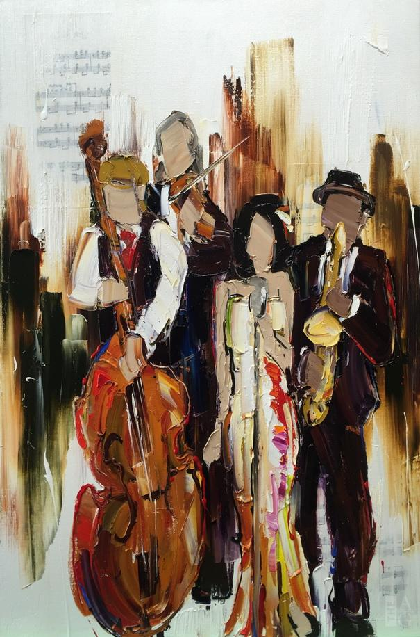 Kimberly Kiel Chanteuse 36 x 24 The Avenue Gallery Canadian contemporary art Victoria BC