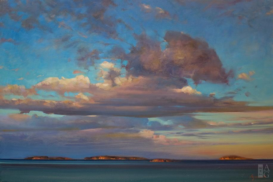 Coastal landscape painting, Winchelsea Evening Sky by Brent Lynch at The Avenue Gallery, a contemporary fine art gallery in Victoria, BC, Canada.