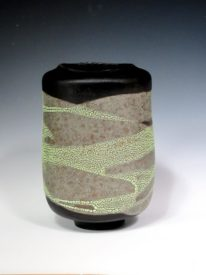 Ceramic Large Black & White Vase by Sandra Dolph at The Avenue Gallery, a contemporary fine art gallery in Victoria, British Columbia, Canada.