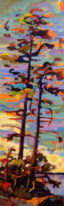 CE10 - Sooke Tree - Acrylic on canvas - 10x30