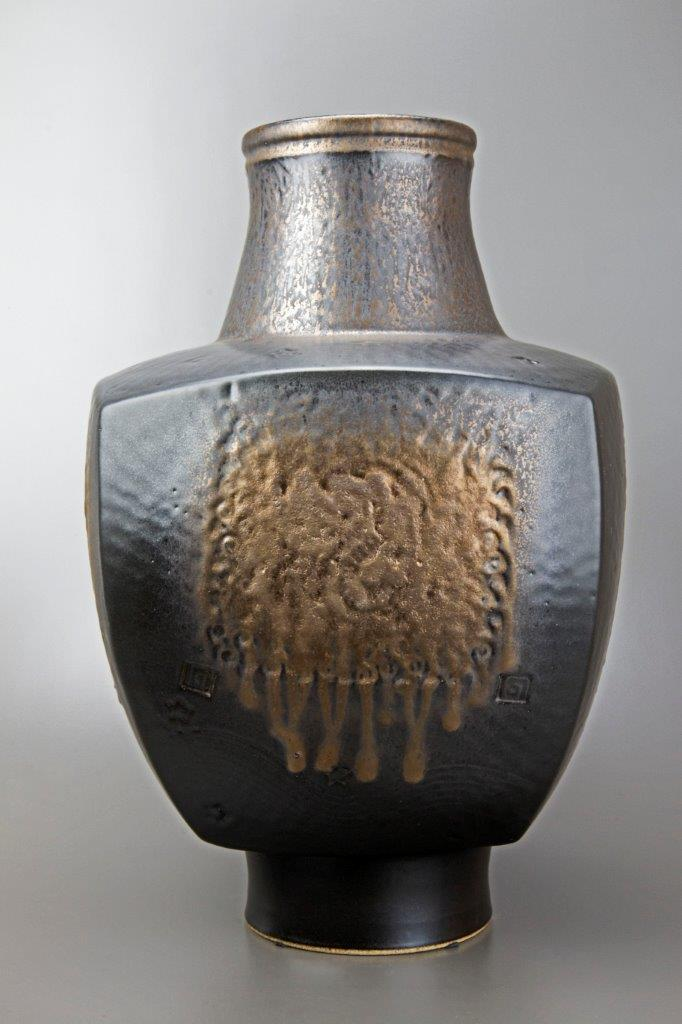 Ceramic vessel, Ancient Ceremony by ceramicist Derek Kasper at The Avenue Gallery, a contemporary fine art gallery in Victoria, British Columbia, Canada.