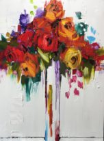 Floral painting, From Now On by Kimberly Kiel at The Avenue Gallery, a contemporary fine art gallery in Victoria, BC, Canada.