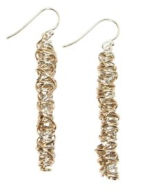 Mixed Medium Twist Earrings by jeweller Dianne Rodger at The Avenue Gallery, a contemporary fine art gallery in Victoria, BC