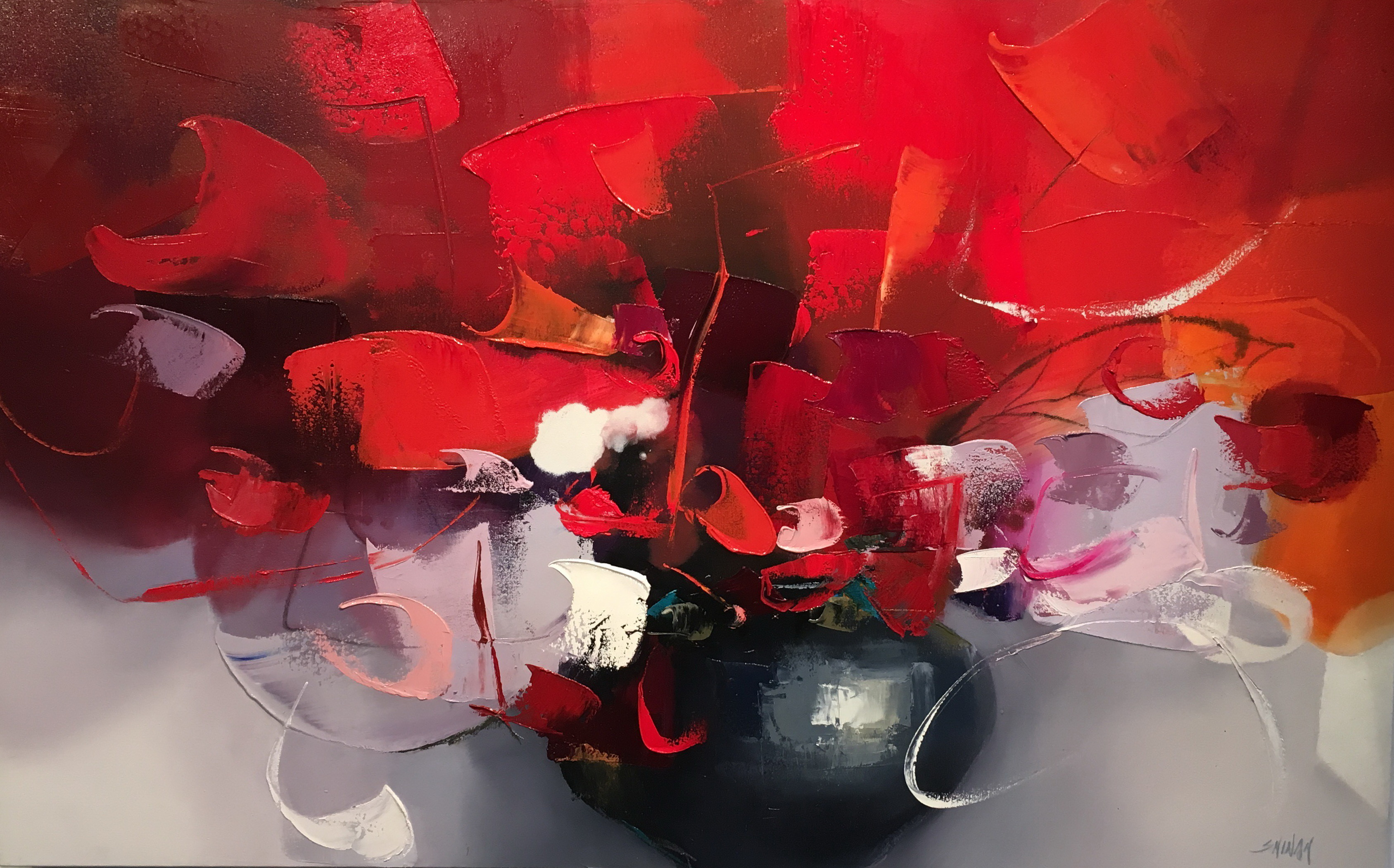 Abstract painting, Early Morning II by Shinah Lee at The Avenue Gallery, a contemporary fine art gallery in Victoria, BC, Canada.