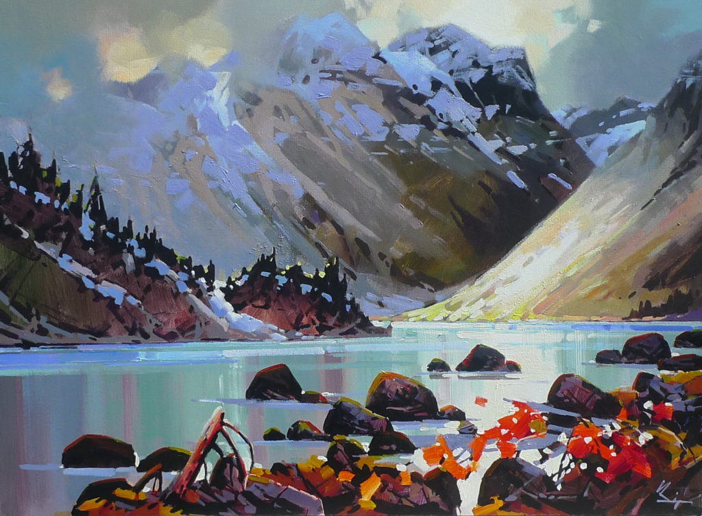 Landscape painting, Dreaming, Kinney Lake by Bi Yuan Cheng at The Avenue Gallery, a contemporary fine art gallery in Victoria, BC, Canada.