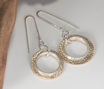Halo Dot Earrings by Linda Freedman Katz at The Avenue Gallery, a contemporary fine art gallery in Victoria, BC, Canada.