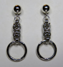 Sterling Silver Byzantine Earrings by Hammered Rings by Anne Kelly at The Avenue Gallery, a contemporary fine art gallery in Victoria, BC, Canada.