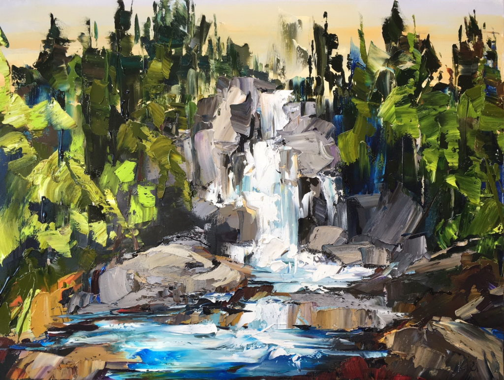 Landscape painting, West Coast Wanderings III by Kimberly Kiel at The Avenue Gallery, a contemporary fine art gallery in Victoria, BC, Canada.