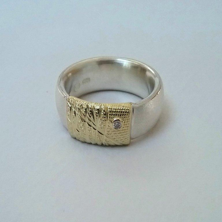 Gold wrap Ring by Andrea Roberts at The Avenue Gallery, a contemporary art gallery in Victoria BC, Canada