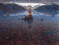 Garibaldi Evening by Brent Lynch at The Avenue Gallery, a contemporary fine art gallery in Victoria, BC, Canada.
