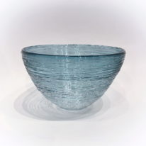 Gossamer Series Bowl (Steel Blue) by Julia Reimer at The Avenue Gallery, a contemporary fine art gallery in Victoria, BC, Canada.