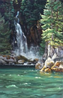 Silver Falls by Gaye Adams at The Avenue Gallery, a contemporary fine art gallery in Victoria, BC, Canada.