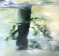 Abstract painting, A Quiet Day by Niina Chebry at The Avenue Gallery, a contemporary fine art gallery in Victoria, BC, Canada.