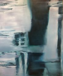 Abstract painting, Fading Light by Niina Chebry at The Avenue Gallery, a contemporary fine art gallery in Victoria, BC, Canada.