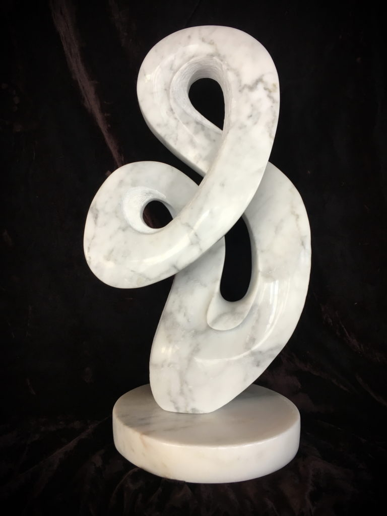 Marble sculpture, Flow by Maarten Schaddelee at The Avenue Gallery, a contemporary fine art gallery in Victoria, BC, Canada.