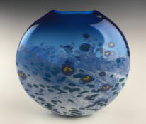 Smarty Vase (Medium Blue) by Lisa Samphire at The Avenue Gallery, a contemporary fine art gallery in Victoria, BC, Canada.