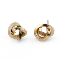 18kt. Yellow Gold Knot Earrings by Dorothée Rosen at The Avenue Gallery, a contemporary fine art gallery in Victoria, BC, Canada.