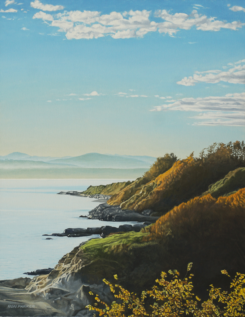 Dallas Road Autumn by Ron Parker at The Avenue Gallery, a contemporary fine art gallery in Victoria, BC, Canada.