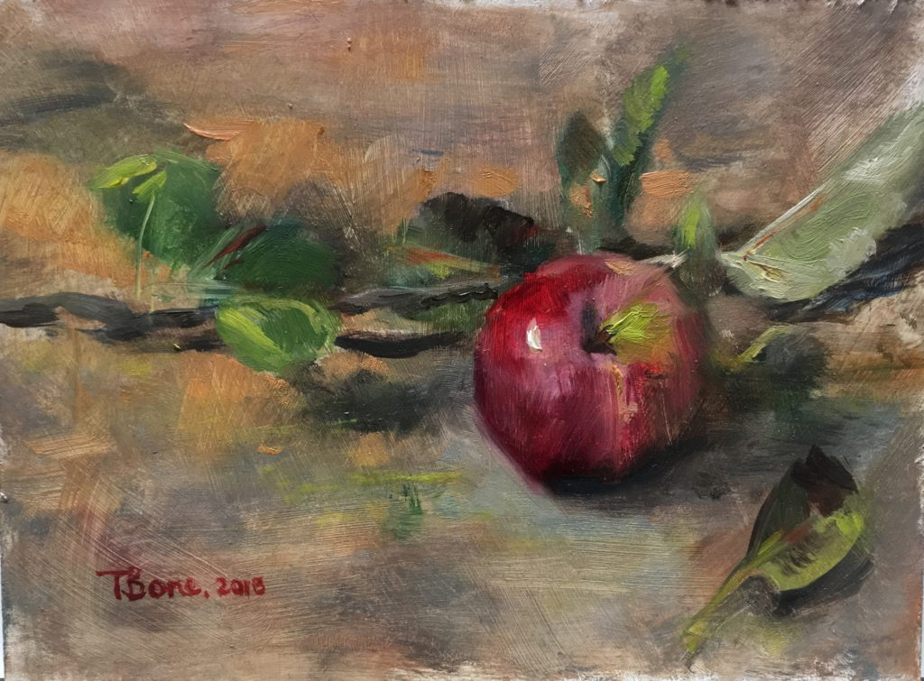 An Apple A Day by Tanya Bone at The Avenue Gallery, a contemporary fine art gallery in Victoria, BC, Canada.