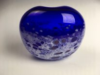 Tulip Vase (Cobalt Blue) by glazier Lisa Samphire at The Avenue Gallery, a contemporary fine art gallery in Victoria, BC, Canada.