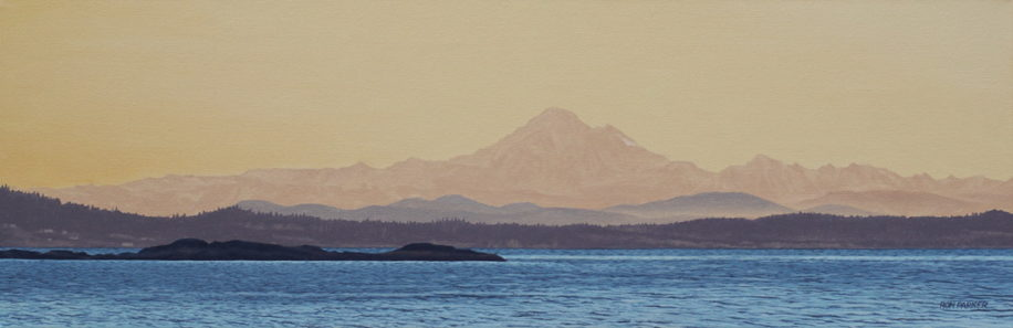 Mount Baker Before Dawn by Ron Parker at The Avenue Gallery, a contemporary fine art gallery in Victoria, BC, Canada.