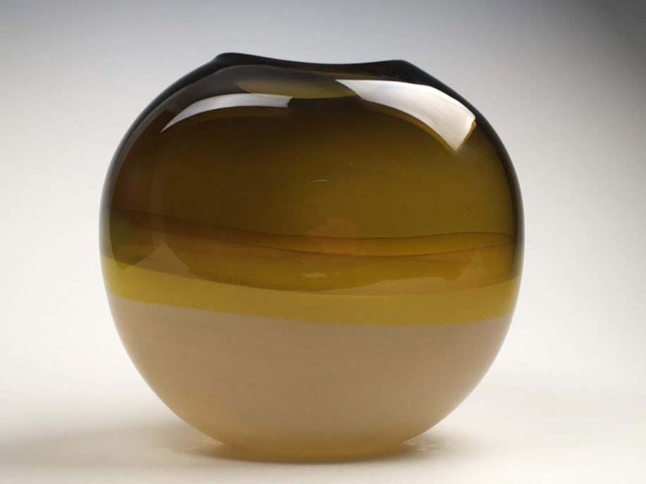 Landscape Vase (Sargasso, Beige) by Lisa Samphire at The Avenue Gallery, a contemporary fine art gallery in Victoria, BC, Canada