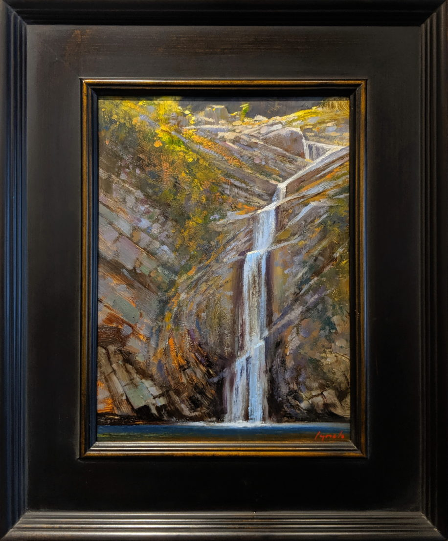 Little Falls, Nanoose (Field Study) by Brent Lynch at The Avenue Gallery, a contemporary fine art gallery in Victoria, BC, Canada.