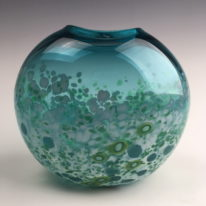 Tulip Vase (Teal Green) by Lisa Samphire at The Avenue Gallery, a contemporary fine art gallery in Victoria, BC, Canada