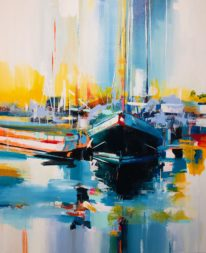Waiting II by Yared Nigussu at The Avenue Gallery, a contemporary fine art gallery in Victoria, BC, Canada