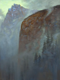 Morning Mist Rockies by Brent Lynch at The Avenue Gallery, a contemporary fine art gallery in Victoria, BC, Canada.