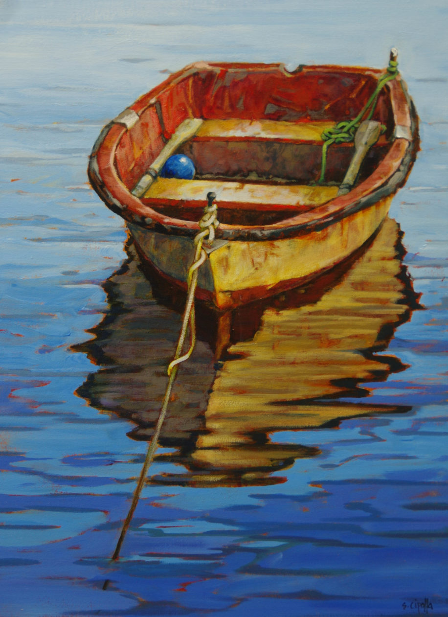 Anchored in the Cove by Susie Cipolla at The Avenue Gallery, a contemporary fine art gallery in Victoria, BC, Canada