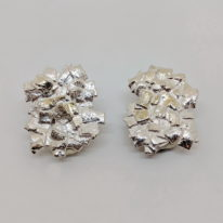 Silver Clip-On Earrings by Barbara Adams at The Avenue Gallery, a contemporary fine art gallery in Victoria, BC, Canada.