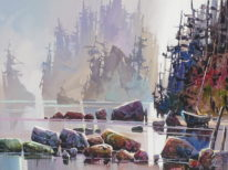 Beach on West Coast by Bi Yuan Cheng at The Avenue Gallery, a contemporary fine art gallery in Victoria, BC, Canada.