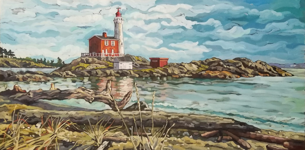 Summer Day, Fisgard Lighthouse by Mary-Jean Butler at The Avenue Gallery, a contemporary fine art gallery in Victoria, BC, Canada.