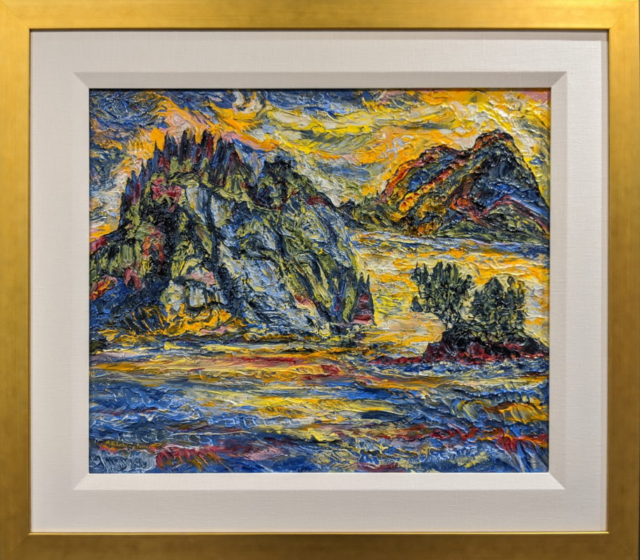 Seastack & Cliffs, Haida Gwaii by Rob Elphinstone at The Avenue Gallery, a contemporary fine art gallery in Victoria, BC, Canada.