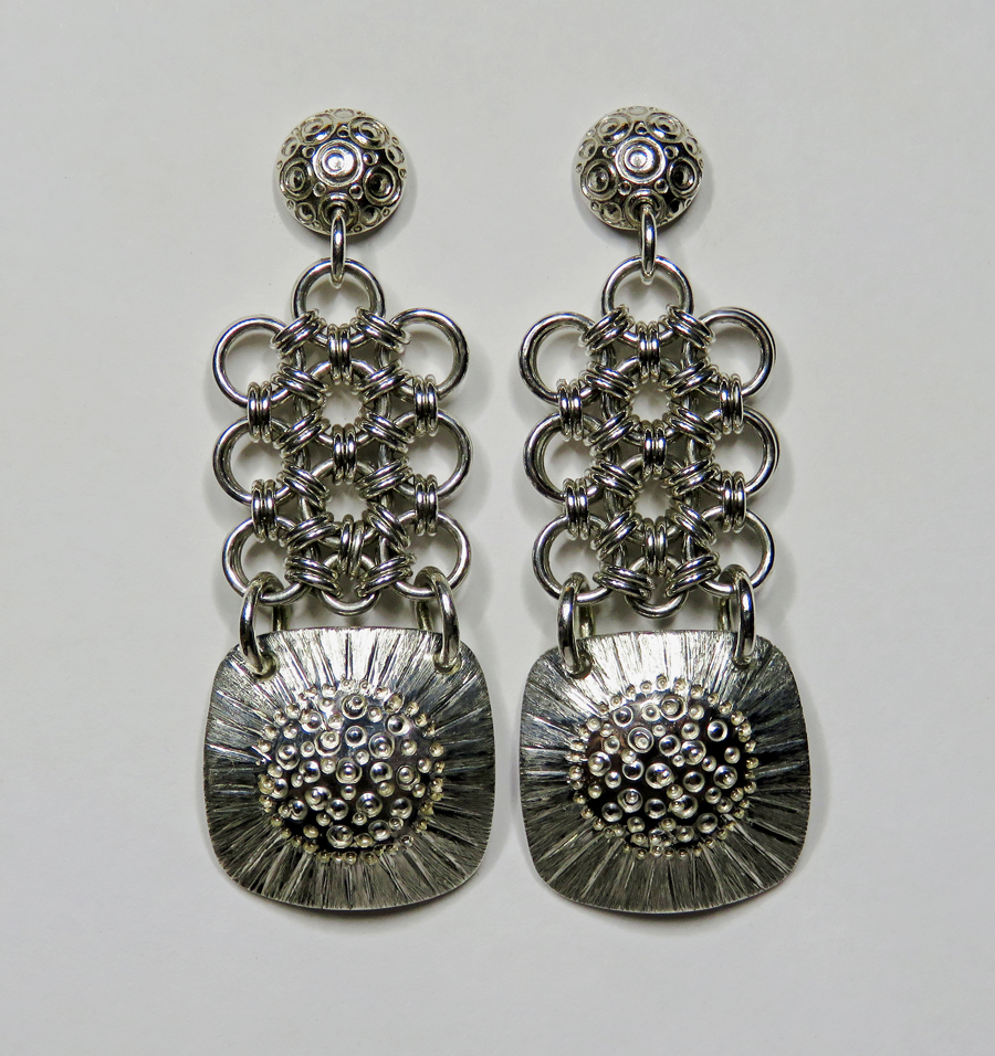 Sterling Silver Semisphericals Earrings by Anne Kelly at The Avenue Gallery, a contemporary fine art gallery in Victoria, BC, Canada.