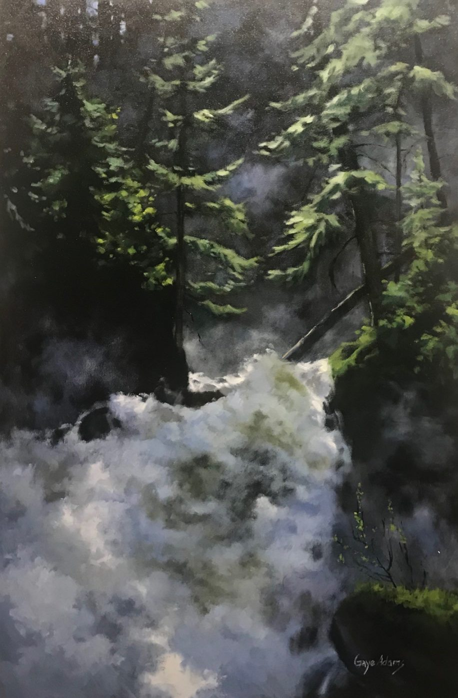 Roiling Runoff by Gaye Adams at The Avenue Gallery, a contemporary fine art gallery in Victoria, BC, Canada.