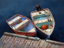 Dockside Morning by Susie Cipolla at The Avenue Gallery, a contemporary fine art gallery in Victoria, BC, Canada.