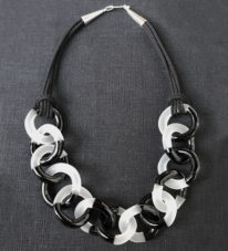 Two-Tone Necklace (Black/White) by Minori Takagi at The Avenue Gallery, a contemporary fine art gallery in Victoria, BC, Canada.