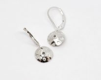 Small Silver Earrings with Dots by ARTYRA Studio at The Avenue Gallery, a contemporary fine art gallery in Victoria, BC, Canada.