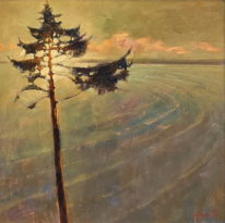 Watcher (Field Study) by Brent Lynch at The Avenue Gallery, a contemporary fine art gallery in Victoria, BC, Canada.