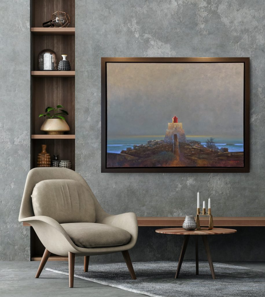 Amphitrite Lighthouse by Brent Lynch at The Avenue Gallery, a contemporary fine art gallery in Victoria, BC, Canada.