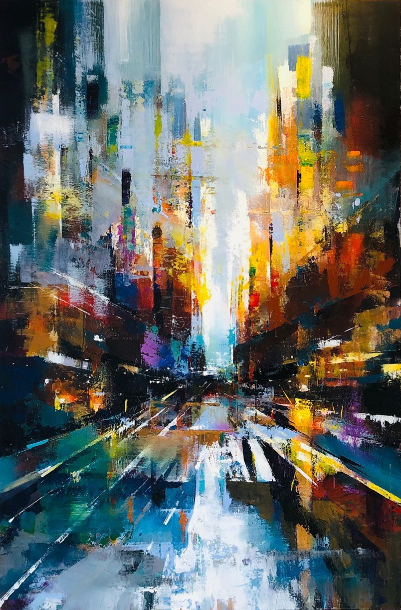 Walking to the Light by Yared Nigussu at The Avenue Gallery, a contemporary art gallery in Victoria BC, Canada