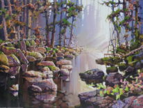 Stone's River by Bi Yuan Cheng at The Avenue Gallery, a contemporary fine art gallery in Victoria, BC, Canada.