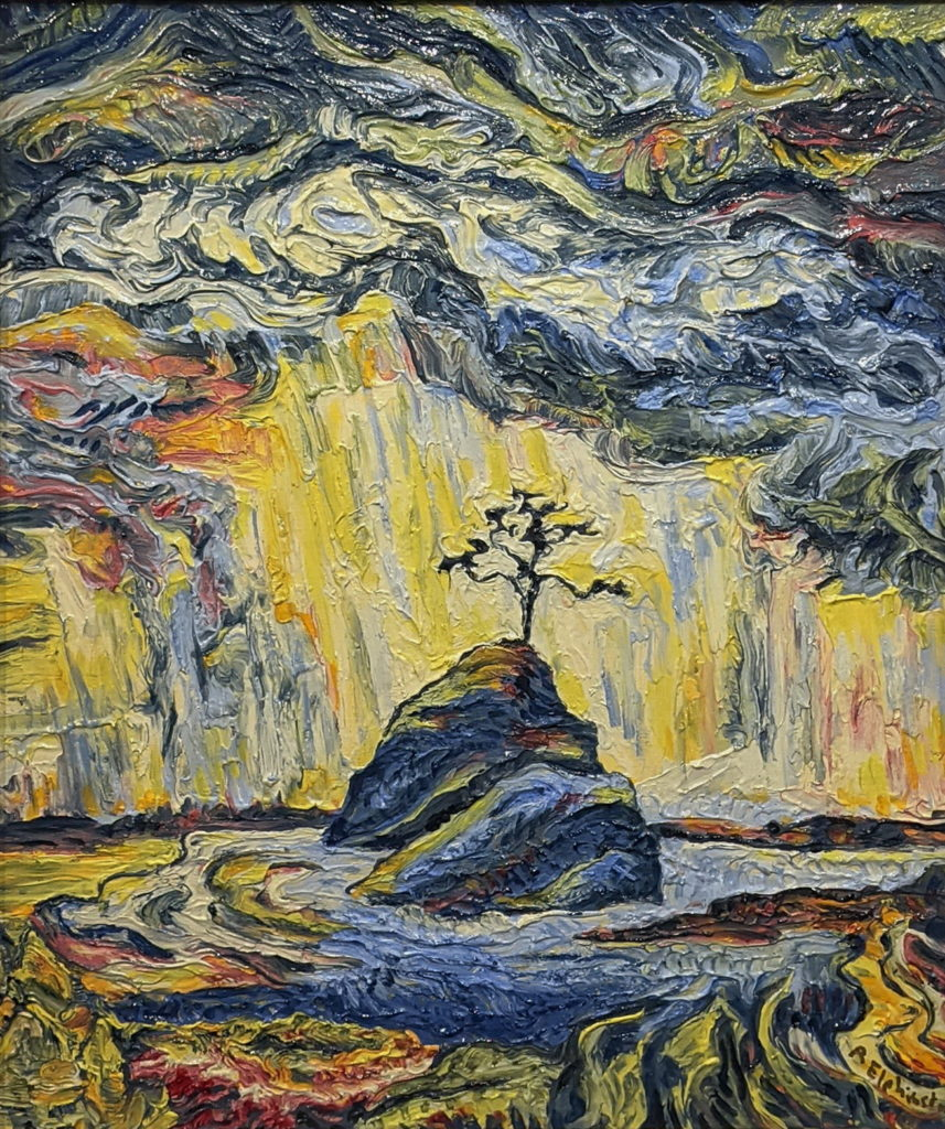 Sea Stack After Storm by Rob Elphinstone at The Avenue Gallery, a contemporary fine art gallery in Victoria, BC, Canada.