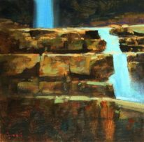Myra Falls Staircase by Brent Lynch at The Avenue Gallery, a contemporary fine art gallery in Victoria, BC, Canada.