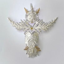 Owl Pendant by Andrea Russell at The Avenue Gallery, a contemporary fine art gallery in Victoria, BC, Canada.