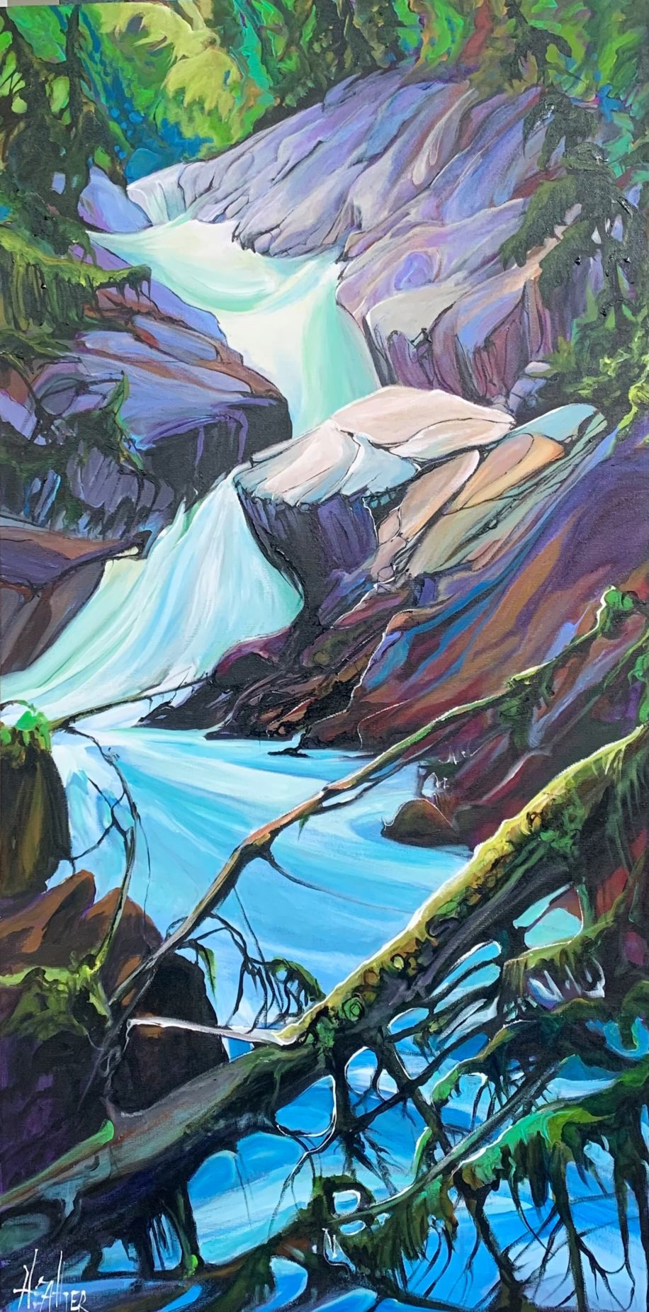 Illustrious Wild by Heather Pant at The Avenue Gallery, a contemporary fine art gallery in Victoria, BC, Canada.